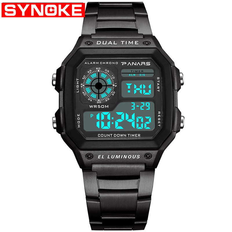 PANARS Men Sports Watches Count Down Waterproof Watch Stainless Steel Fashion Digital Wristwatches Male Clock Relogio MasculinPANARS Men Sports Watches Count Down Waterproof Watch Stainless Steel Fashion Digital Wristwatches Male Clock Relogio Masculin