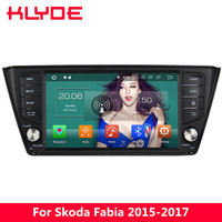 KLYDE 8 4G WIFI Android 8.0 Octa Core 4GB RAM 32GB ROM DAB FM Car DVD Multimedia Player Radio Stereo For Skoda Fabia 2015 2017