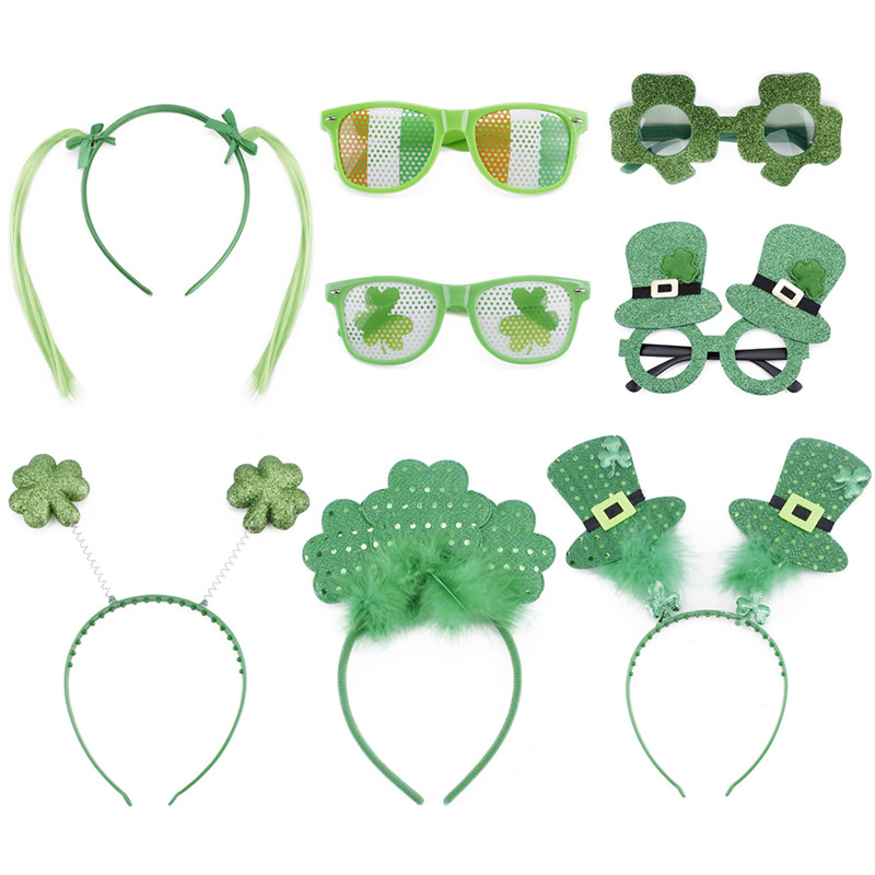 Men's Glasses Apparel Accessories Glorious Funny Shamrock Design Sunglasses Creative Holiday Cosplay Costume Glasses Accessory