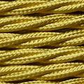 8 M 2*0.75 Tela Textil Cable Edison Araña Lámpara Colgante de Alambre de Oro Trenzado de Cables Cable Eléctrico Paño de La Vendimia Cable de la lámpara
