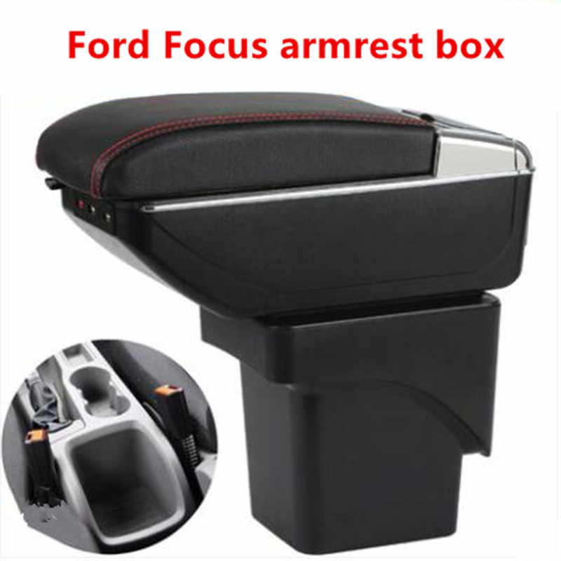 Ford Focus 2 için kol dayama kutusu, merkezi mağaza mk2 içeriği kutusu ürünler İç kol dayama saklama araba-şekillendirici aksesuarları parçaları