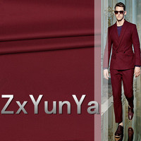 2017 new 148cm suit wool fabric 80% wool Italian style wine red worsted suit twill wool suit trousers senior fabric