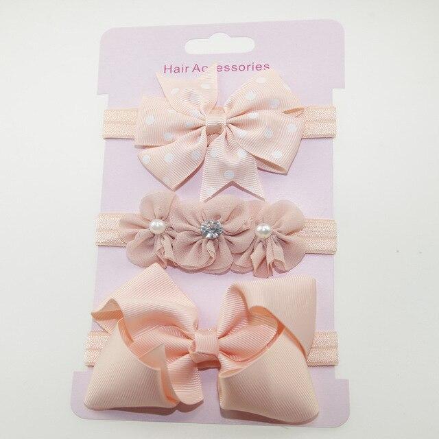ba276134ab75 3Pcs Baby Elastic flower headband Headbands Toddler Infants Bowknot  Hairband baby girl accessories set photography props