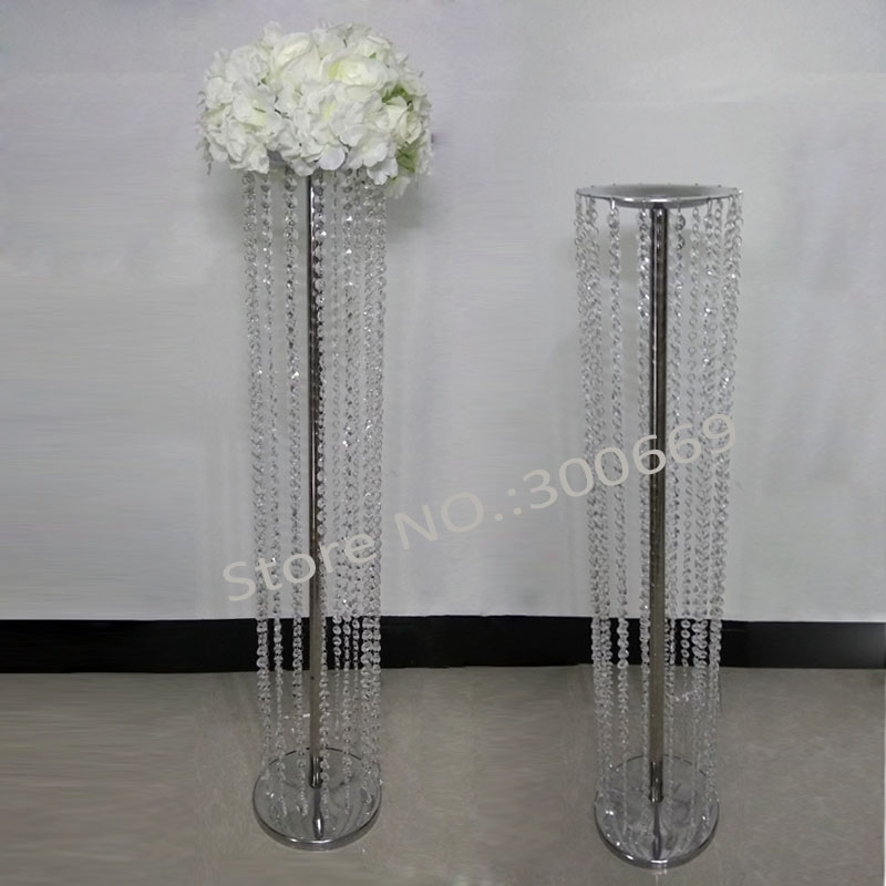 10pcs acrylic crystal wedding road lead with lights wedding table centerpiece event party decoration flower stand
