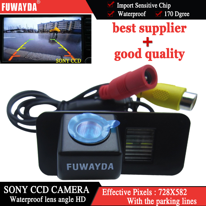 FUWAYDA CAR REAR VIEW REVERSA BACKUP SONY CHIP CAMERA PARA FORD MONDEO/FIESTA/KUGA/FOCUS (2 carruagens)/S-Max/CHIA-X HD À PROVA D' ÁGUA