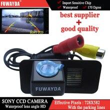FUWAYDA CAR REAR VIEW SOSTEGNO D'INVERSIONE SONY CHIP CAMERA PER FORD MONDEO/FIESTA/KUGA/FOCUS (2 carrelli)/S-max/CHIA-X IMPERMEABILE HD