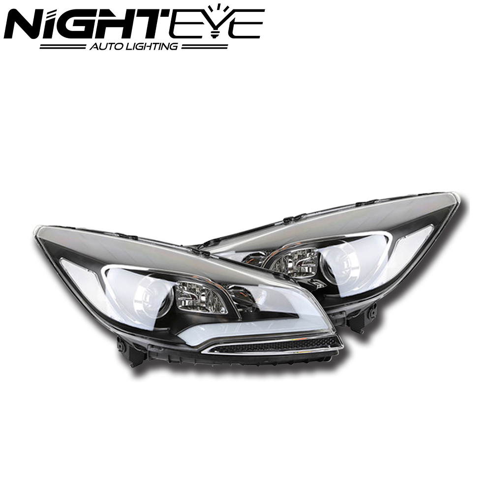 For Ford Kuga 2014 DRL LED Headlights Daytime Running Light Projector Xenon Lens Fog Lamp DRL Headlamp Assembly Free Shipping