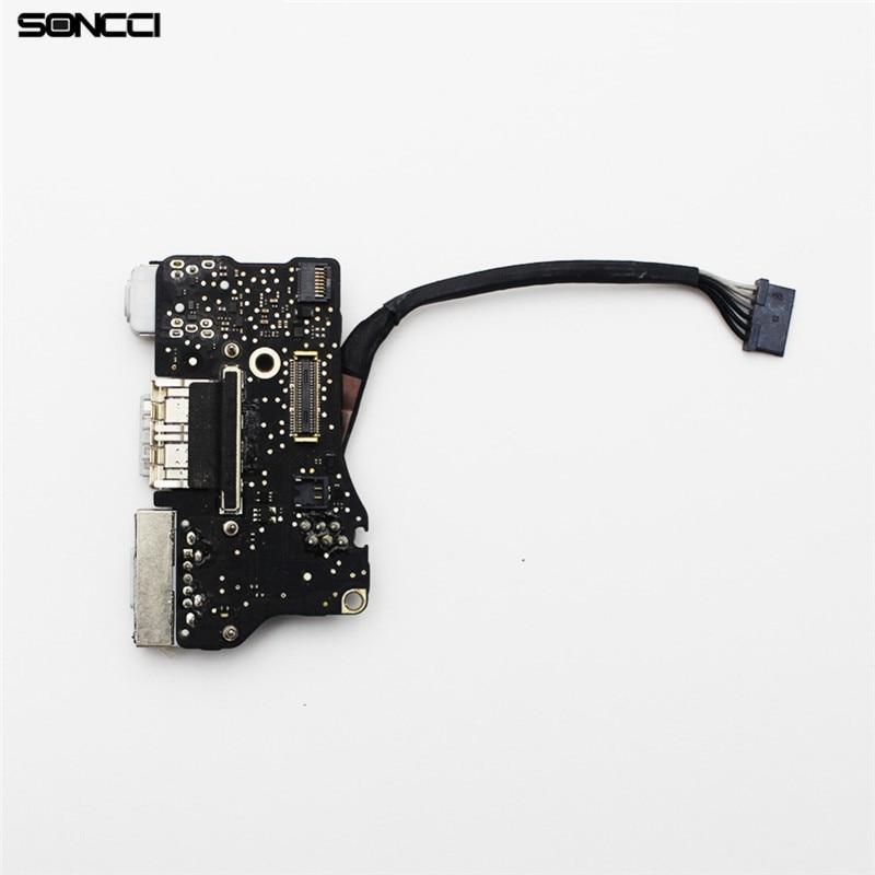 Soncci A1466 2013-2016 New Power DC Jack Board Flex cable Repair parts For MacBook Air 13 A1466 2013 2014 2015 laptop dc 2013 100