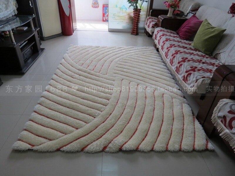 Moderne minimaliste 3D stéréoscopique épais stretch fil tapis/300D filament salon table basse chambre tapis IT01VD