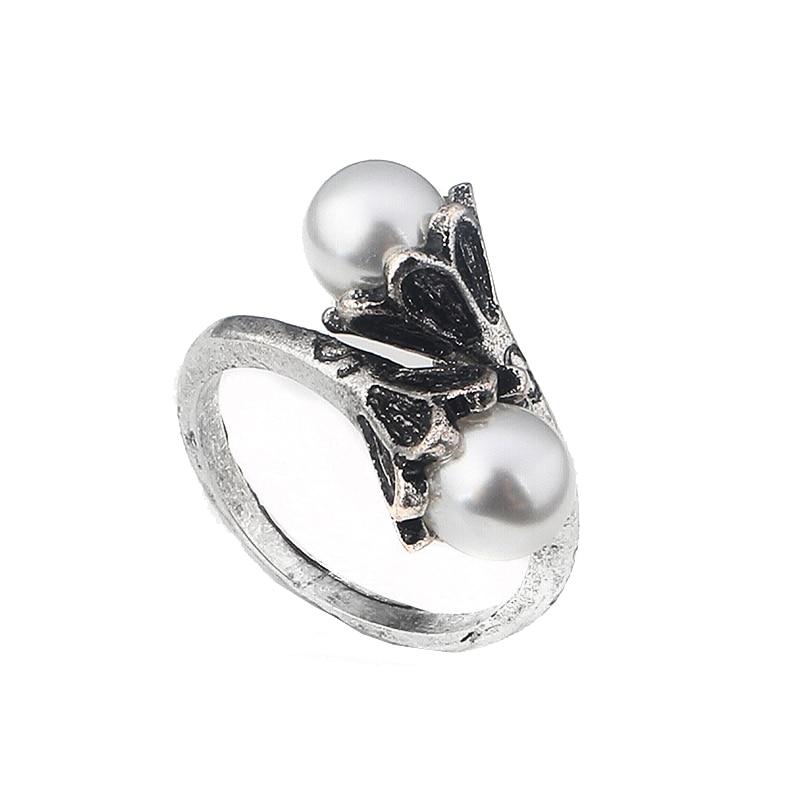 High Quality movie Game of Thrones Ring Daenerys Targaryen Simulated Pearl Women Jewelry(China)