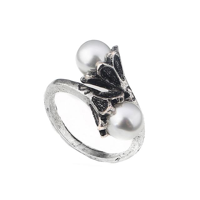 High Quality movie Game of Thrones Ring Daenerys Targaryen Simulated Pearl Women