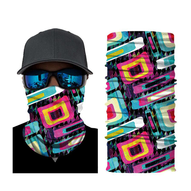 CDCOTN Car Motorcycle & Bike Protective Mask Face Mask Hats Seamless Bandana Scarve Halloween Party Feast Supplies 3