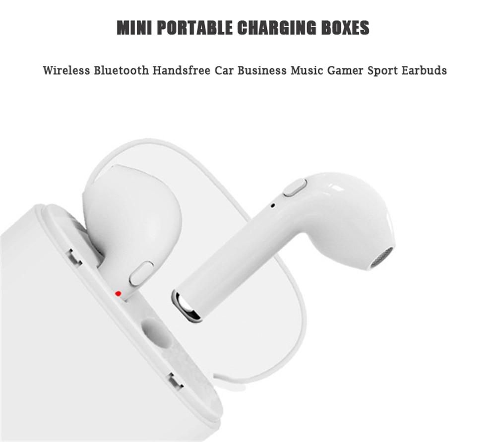 Hot i7 TWS Twins Wireless Earphones Mini Bluetooth V4.2 Earbuds Stereo Headset Headphone Earpiect Earset For Iphone X 5S 8 PLUS 7 plus 7 6s 6 plus Galaxy S8 Samsung Xiaomi Huawei Meizu LG PC Girl Children Women ( (4)