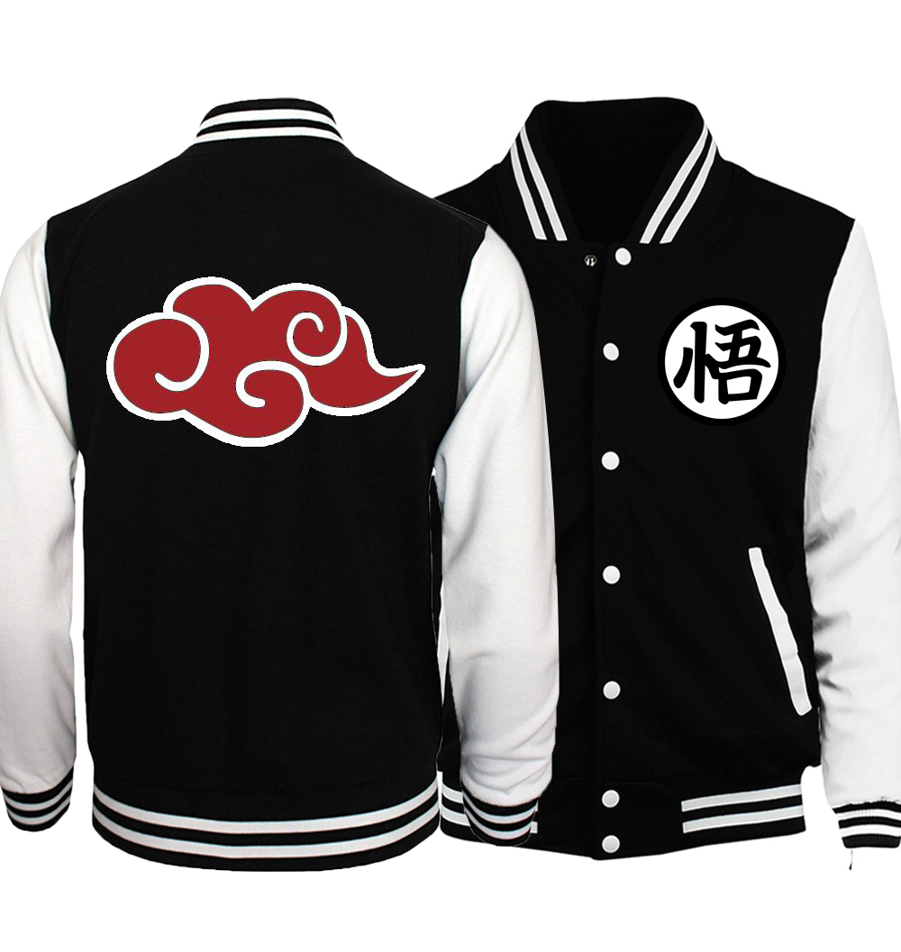 Men's Spring Autumn jacket 2019 Japanese Anime Dragon Ball Z Men Jacket Baseball Men Brand-Clothing Coat Harajuku Bomber Jacket