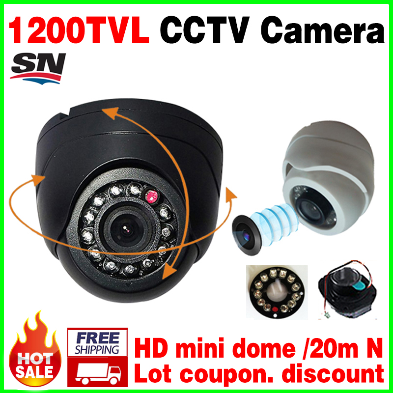 HOT Sale small 1 3cmos read 1200TVL Mini Indoor Dome Hd Cctv Security Analog Camera IRcut