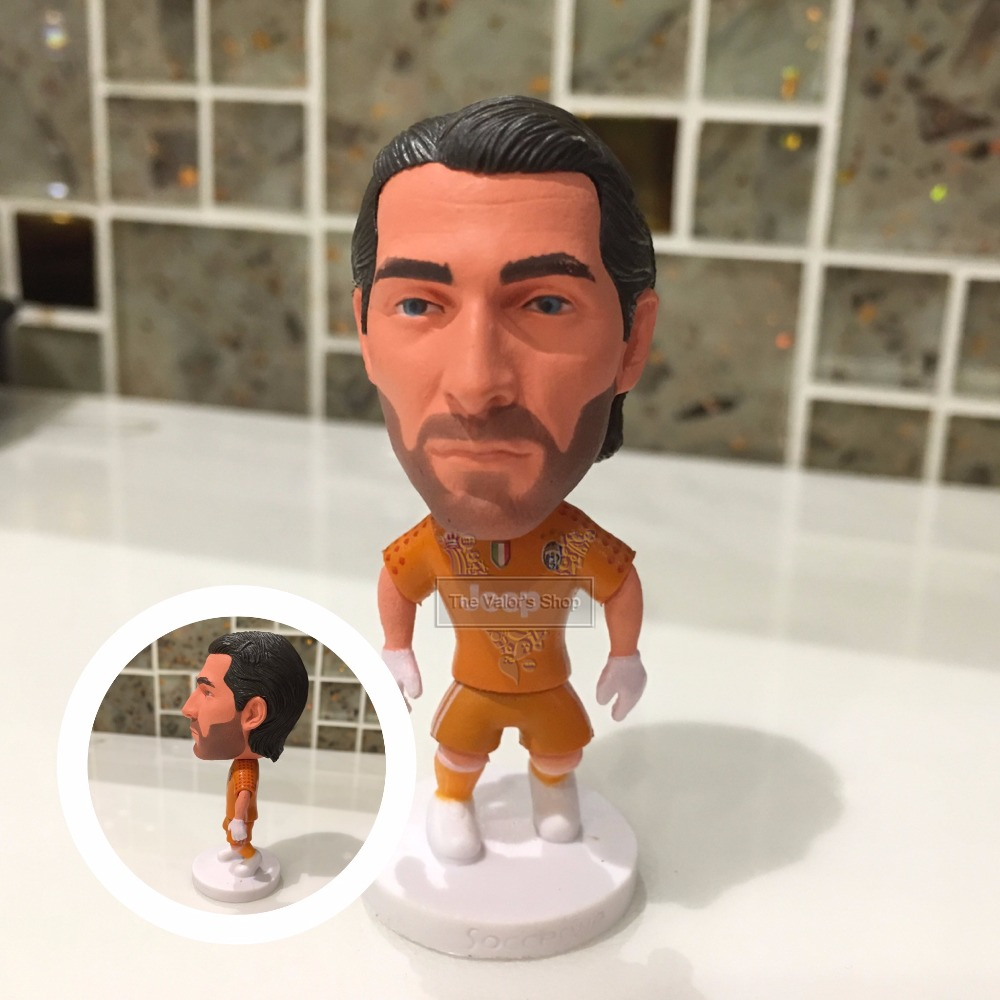 Soccer figurine sports stars 2016-2017  Buffon Movable joints resin model toy action figure dolls collectible boyfriend gift soccer figurine football stars competition classic brazil cup world cup model toy action figure ornament dolls collectible gift