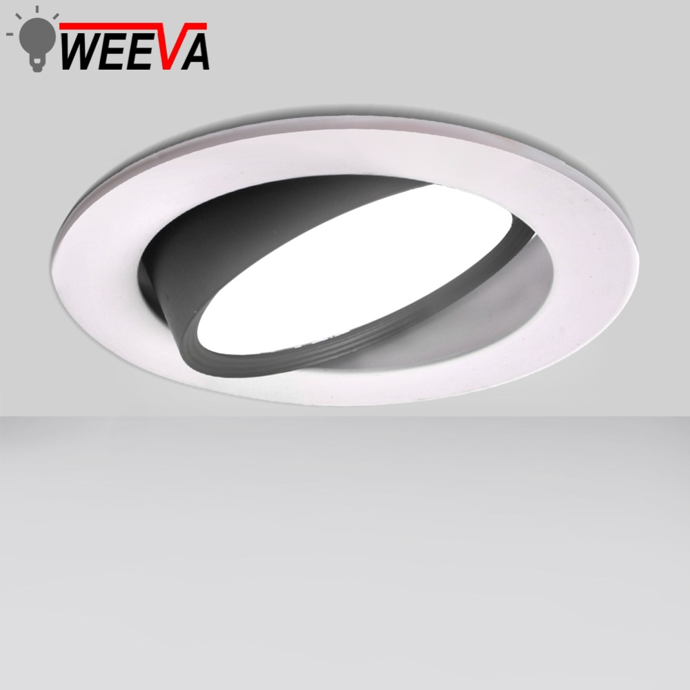 LED Downlight COB Recessed Lamp Round 12W 9W 7W 5W 3W Bedroom Kitchen Indoor Adjustable LED Spot Lighting 220V 110V