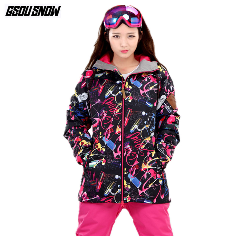 GSOU SNOW Brand Ski Jackets Women Winter Snowboard Jackets Female Mountain Skiing Snowboarding Clothing Waterproof Snow Clothes