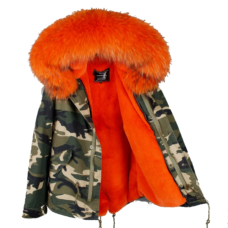 Army green black 2017 real raccoon fur collar hooded winter jacket women parka fur coat fashion thick parkas casual warm jackets