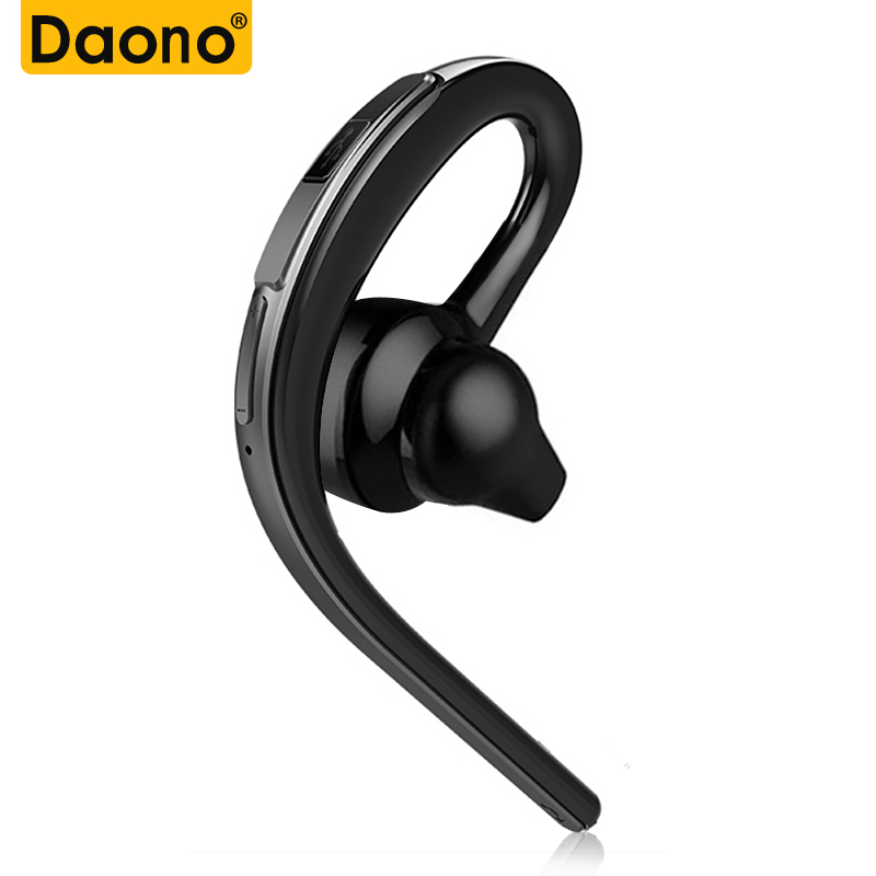 DAONO Bluetooth headset earphone for phone wireless sweatproof sports bluetooth headphone with mic voice control with earbud new dacom carkit mini bluetooth headset wireless earphone mic with usb car charger for iphone airpods android huawei smartphone