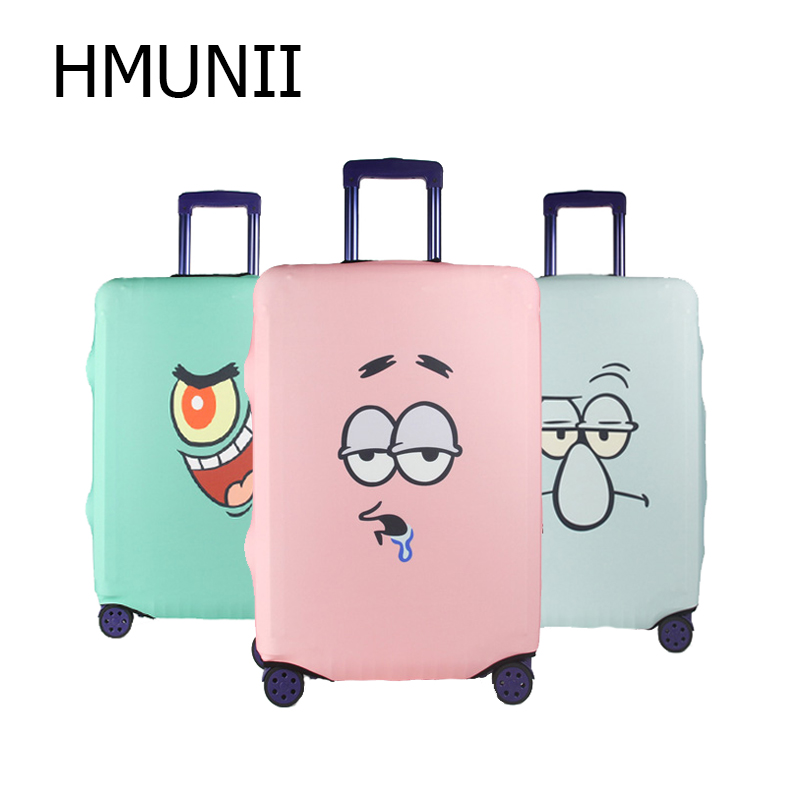 HMUNII Fashion Trolley Case Cover Travel Suitcase Luggage Protective Covers capa protetora para mala Suitcase Cover with ZipprHMUNII Fashion Trolley Case Cover Travel Suitcase Luggage Protective Covers capa protetora para mala Suitcase Cover with Zippr