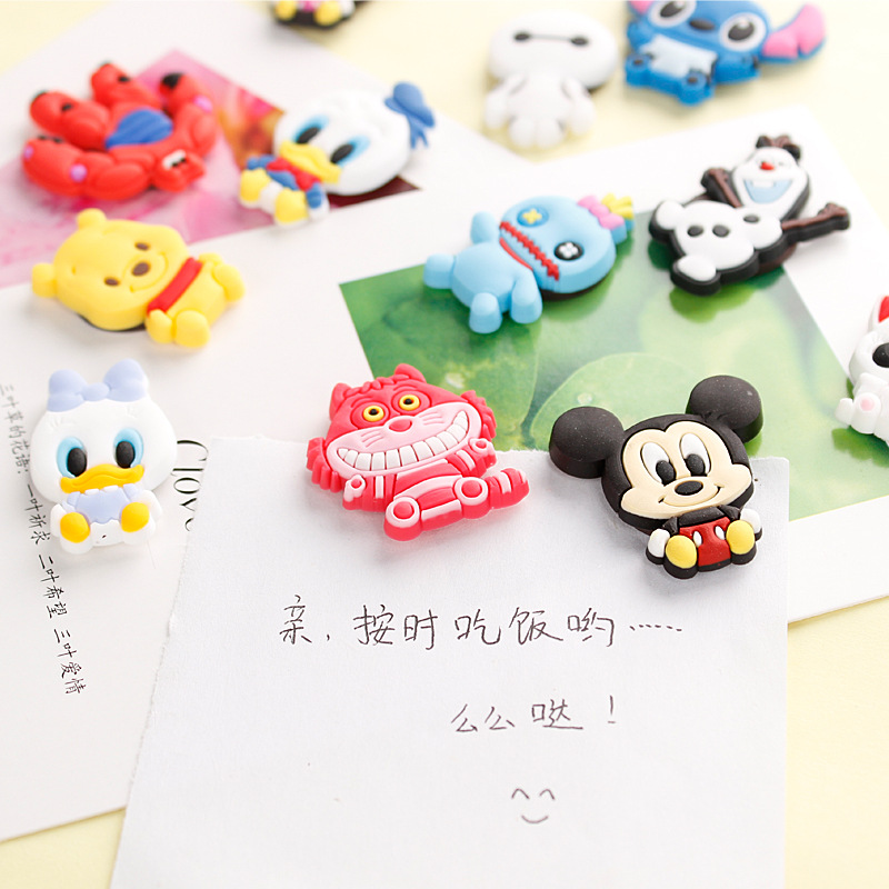 1Pcs New Cute Cartoon Anime Action Figure Famous Characters Fridge Magnet Home Decor Refrigerator Sticker H1096