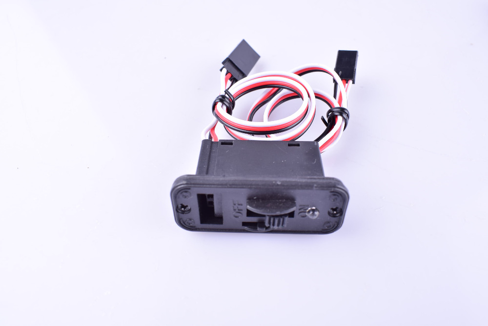 2 PACK Futaba/JR Style Heavy Duty On/Off Switch W/ Charge With Bright LED RC Power Switch image