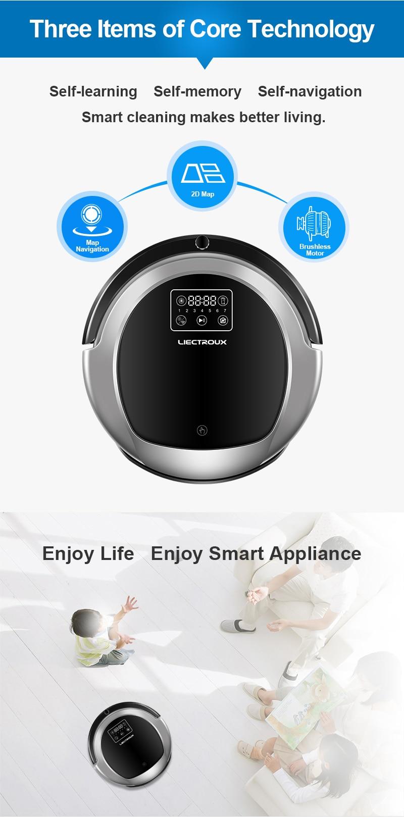 HTB1Di3HPpzqK1RjSZFvq6AB7VXa7 (FBA)LIECTROUX Robot Vacuum Cleaner B6009,Map Navigation,Smart Memory,Suction 3000pa,Dual UV Lamp,Wet Dry Mop,Wifi App aspirador
