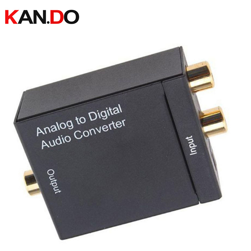 Analog To Digital Signal Audio Sound Adapter ADC Converter Optical Coaxial RCA Toslink SPDIF Adaptor TV Digital Signal Converter