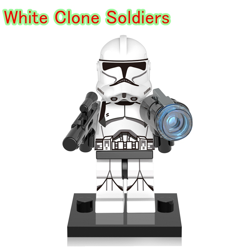 Blocks Toys & Hobbies Contemplative White Clone Soldiers Dolls Single Legoing Star Plan The Last Jedi Stroopers Diy Building Blocks Toys For Children Gifts Xh634