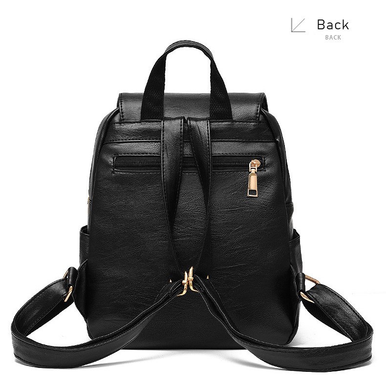 HTB1Di3Vah2rK1RkSnhJq6ykdpXaP LIKETHIS Backpack In Women's Casual PU Leather Knapsack Travel Mochila Escolar Masculina Backpack Zainetto Donna Lady Solid New