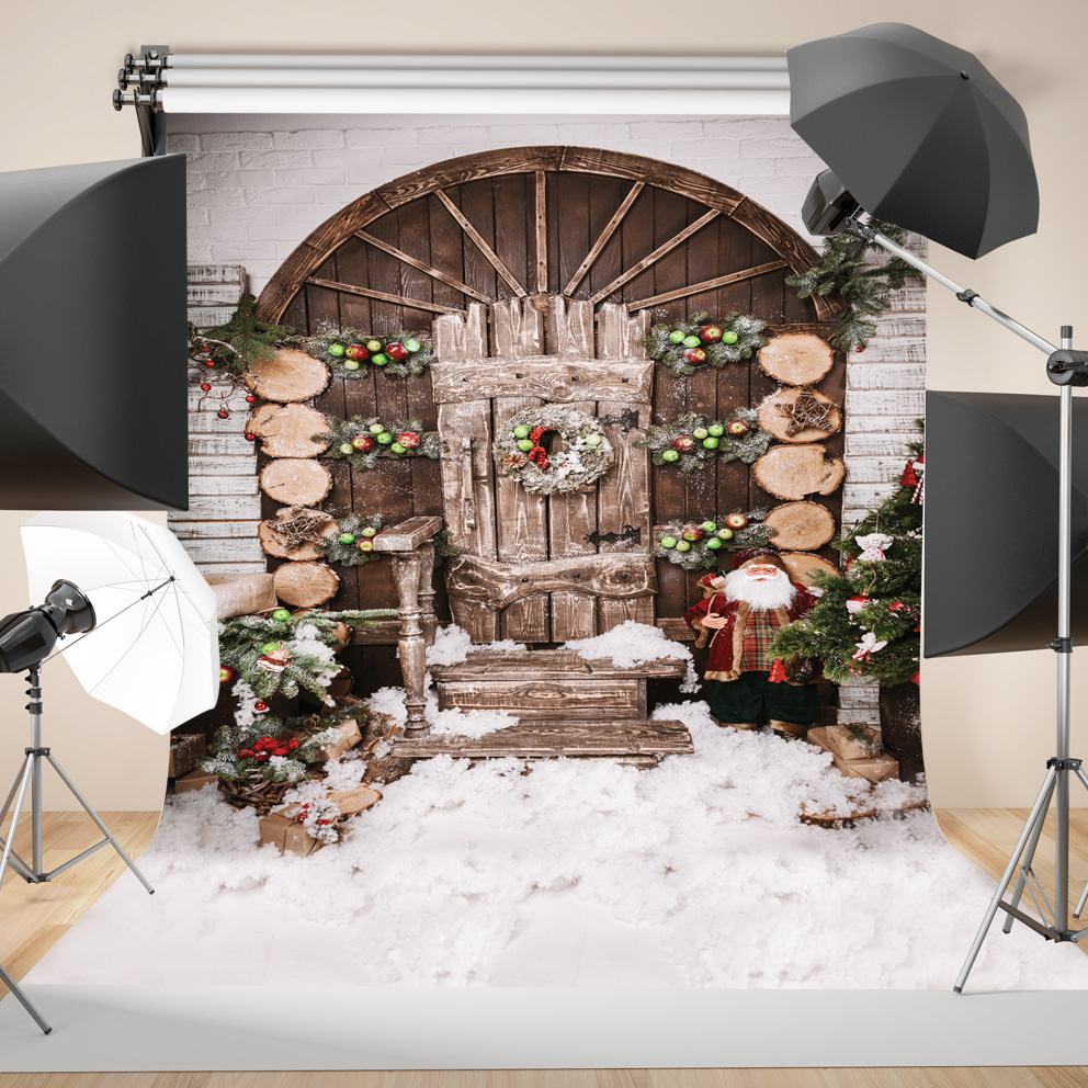 SJOLOON Christmas photography background baby photography backdrop winter snowflake photograph background fond studio vinyl prop 600cm 300cm fundo snow footprints house3d baby photography backdrop background lk 1929