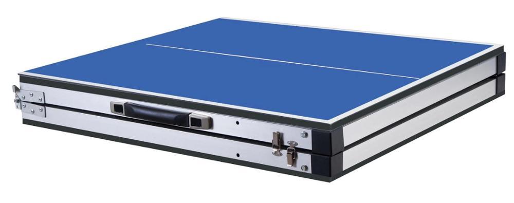 Профессиональный мини-Портативный складные столы для настольного тенниса для родителя-ребенка студента взрослая спортивная игра в помещениях 150(Д)* 66 мм(Ш)* 68(H) см 18 кг - Цвет: blue