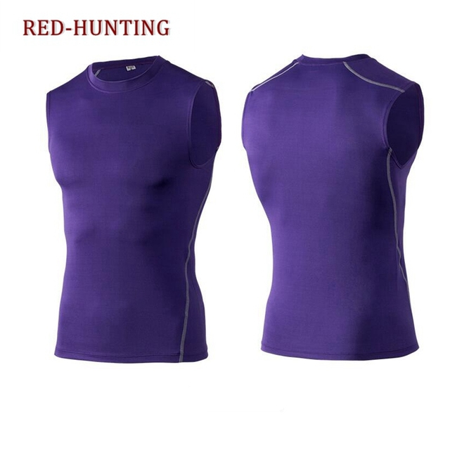 f5ed333376c Summer Men Training Under Shirt Tops Skin Body Compression Wear Base Layer  Tank Tops
