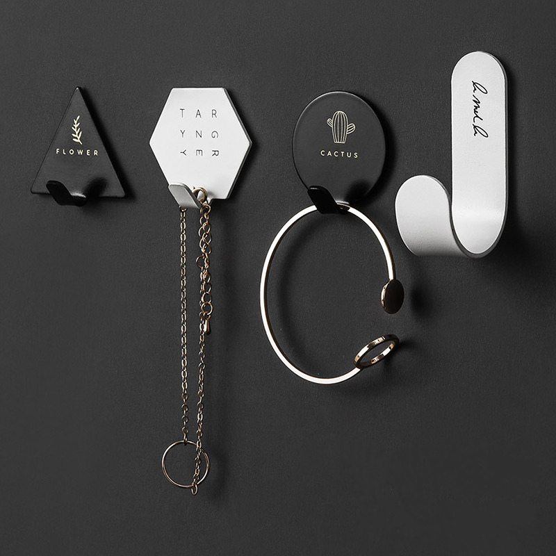 1 Set (4pcs) Creative Key Holder Wall Hook Clothes Hat Hanger Stainless Steel Coat Hanger For Home Decoration Accessories
