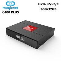 C400 плюс DVB T2 DVB S2 Smart ТВ коробка Android 7,1 Amlogic S912 Octa Core 3 ГБ 32 ГБ 4 К комплект top Box DVB C Media Player PK KIII PRO