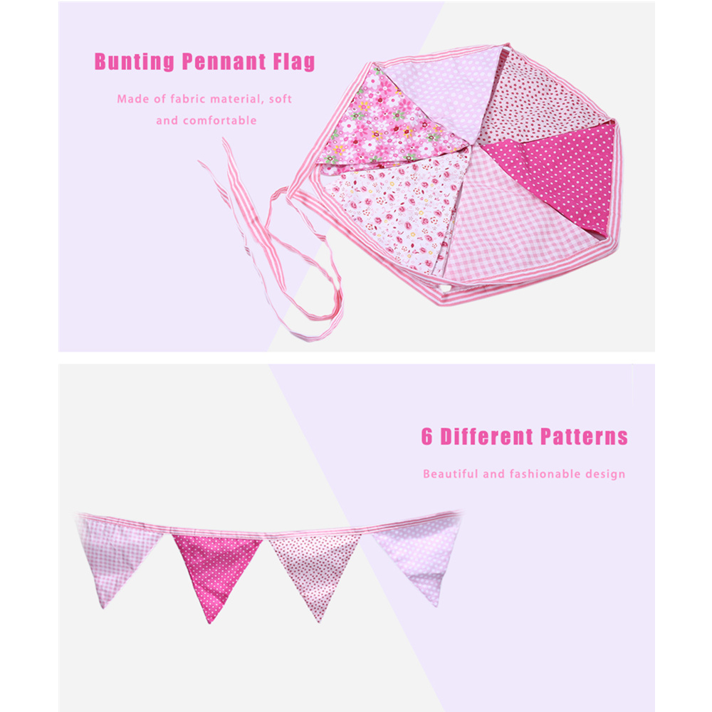 Handmade Floral Hanging Triangle Bunting,
