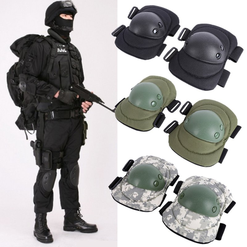 цена на 4 Pcs Adult Tactical Combat Protective Pad Set Gear Sports Military Knee Elbow Protector Elbow & Knee Pads