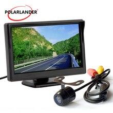 Parking Monitor Reversing Camera Bus/Car 18.5mm LED HD Desktop 5 Inch TFT Screen With Lamp 12-24V Plug-In Rear Cam Night Vision
