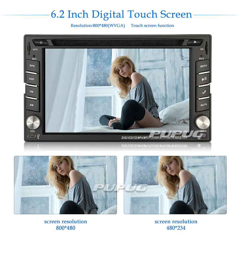 2 Din Touch Screen Car DVD Audio Stereo Receiver Player Support FM AM Radio Bluetooth IPOD Autoradio in Dash AUX USB SD Subwoofe 2 din autoradio car radio stereo in dash 6 2 headunit dvd player capacitive touch screen auto radio bluetooth usb sd fm am rds