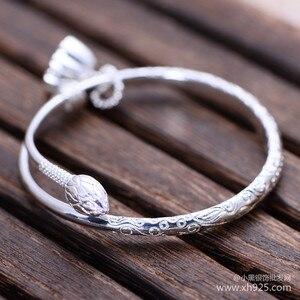 Image 5 - 925 sterling zilveren sieraden Sterling Zilver kleine lotus bloem armband vrouwelijke modellen verzending