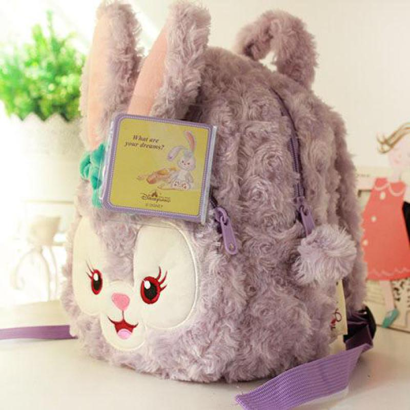 Duffy Bear New Friends Stellalou Rabbit Plush Backpack Soft font b Toys b font Children Schoolbag