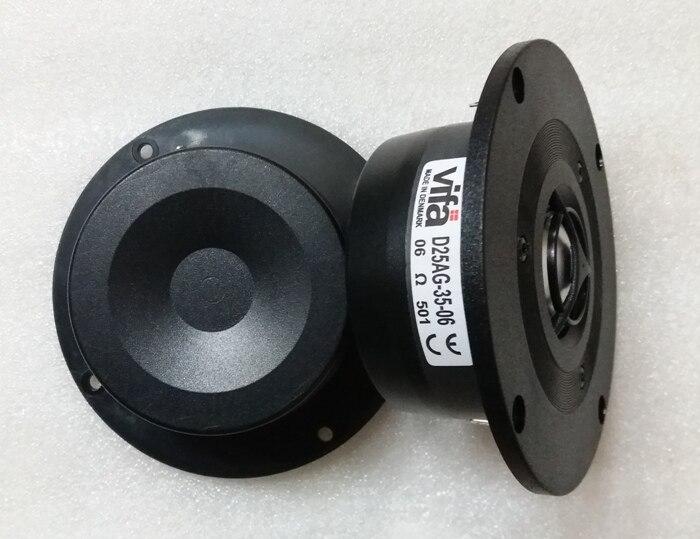 US $41 41 5% OFF|2PCS Original VIFA D25AG 35 06 4inch Aluminum Dome Tweeter  Speaker Driver Unit Magnetism Shielded 6ohm Fs=1500Hz 100W D104mm-in