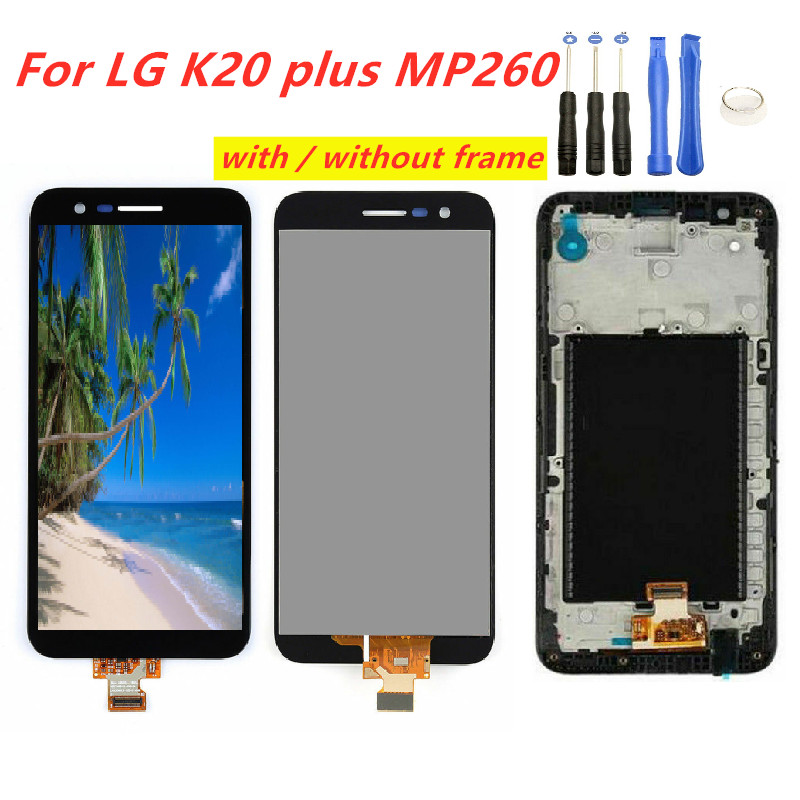 100% Tested LCD <font><b>Screen</b></font> For <font><b>LG</b></font> <font><b>K20</b></font> <font><b>plus</b></font> MP260 TP260 VS501 LCD Display touch <font><b>Screen</b></font> Digitizer with frame <font><b>replacement</b></font> free tool image