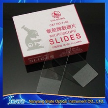 50pcs Blank Microscope Glass Slides with Frosted End 25x76mm for Lab Biology Medical Science