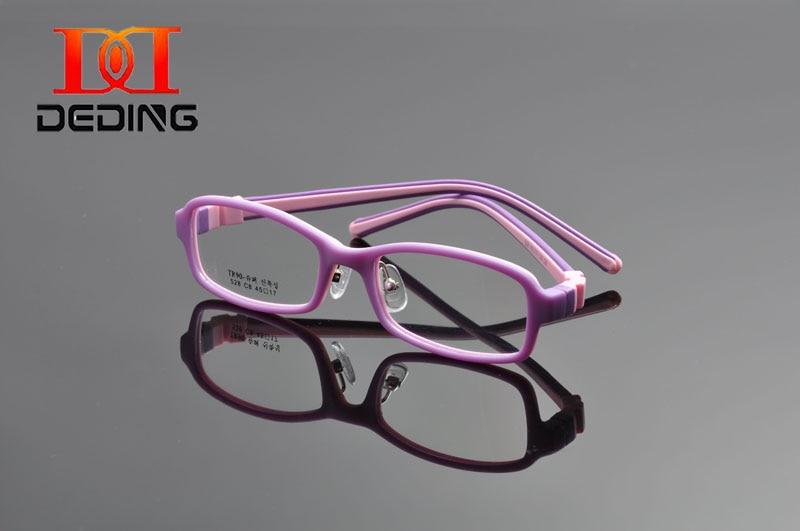 DEDING Unbreakable Kids Silikonové brýle Velikost rámu 45, Flexibilní No Screw, Silikon Temple Odnímatelné optické brýle DD1073