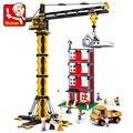 Супер Большой Высокая Recomend Инженерных Башня Строительные блоки Установлены Краны Строительного Кирпича Образовательные Хобби Игрушки для Детей