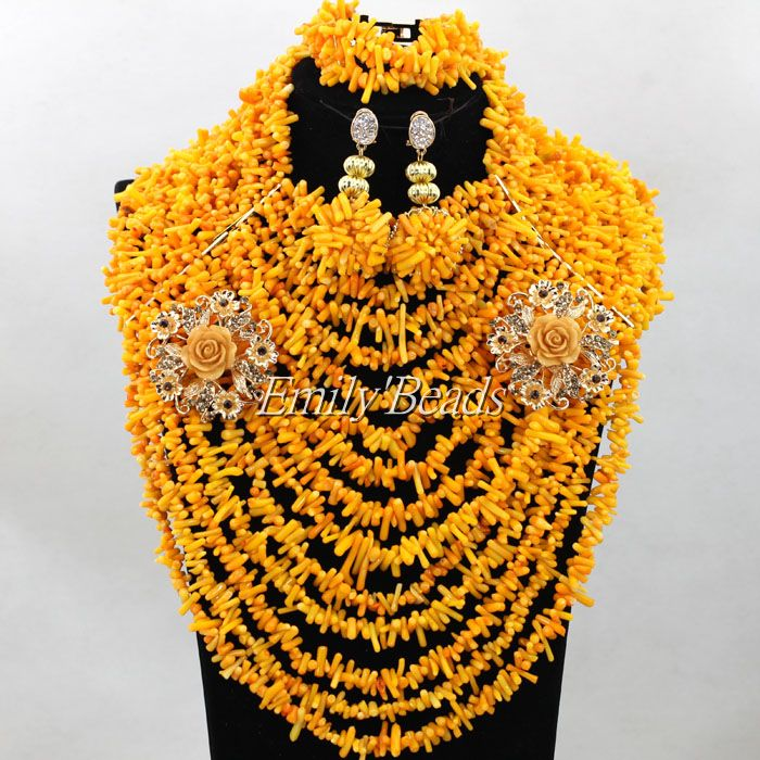 Fantastic African Orange Coral Beads Jewelry Set Irregular Nigerian Wedding Costume Indian Bridal Choker Necklace Set CJ667Fantastic African Orange Coral Beads Jewelry Set Irregular Nigerian Wedding Costume Indian Bridal Choker Necklace Set CJ667