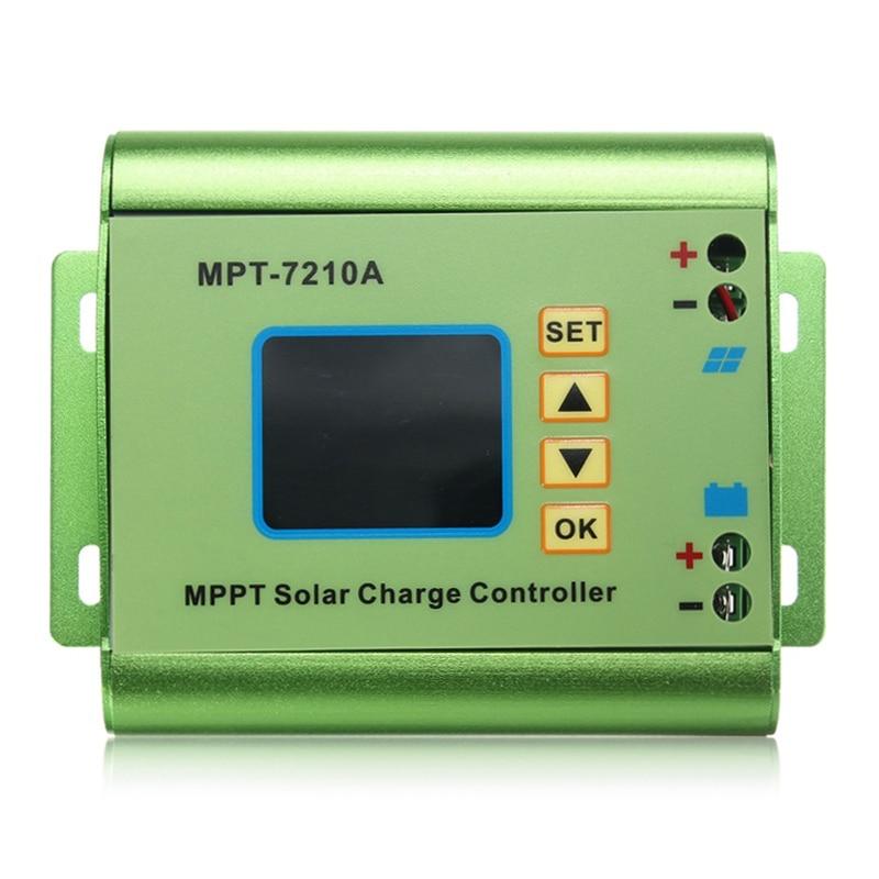 (Drop shipping) 24/36/48/60/72V 10A DC-DC Boost LCD MPPT Solar Regulator Charge Controller 7210A цены онлайн