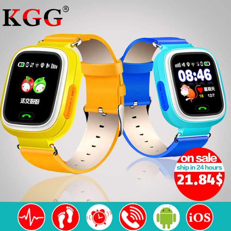 Q90 Children GPS Phone Positioning Watch 1.22 Inch Color Touch Screen WIFI SOS Smart Watch PK Q750 Q50 Q528